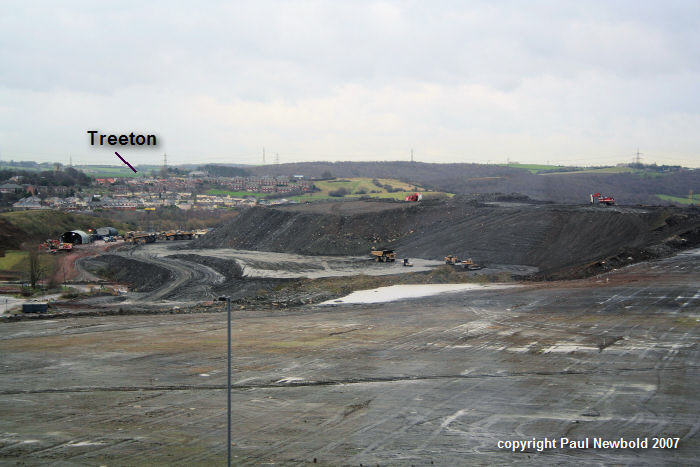 orgreave opencast with treeton in the background